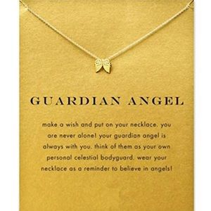 New on Card💕 Guardian Angel Gold dipped Necklace
